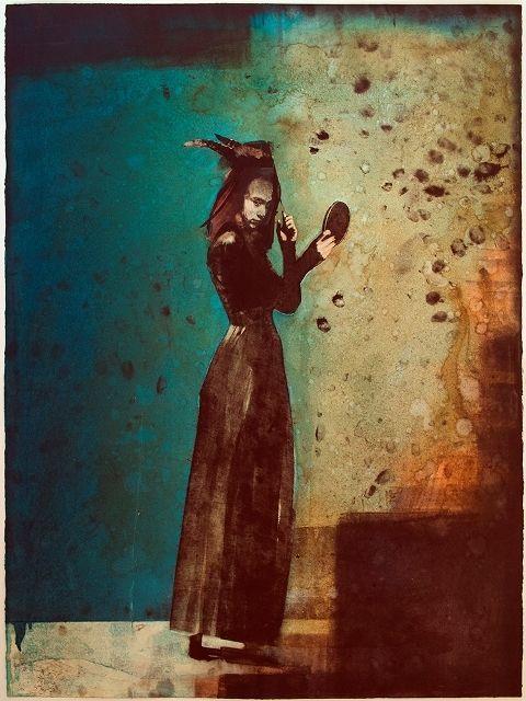 Hand coloured monoprint, Jason Greig