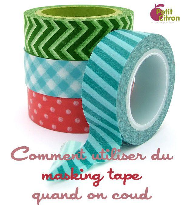 De très bonnes idées pratiques pour utiliser du masking tape quand on coud par Petit Citron