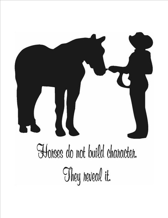 145-HQ Horse-Champions Western Horse 2 Quote-Horse wall decal-Large 28 x 45 inches