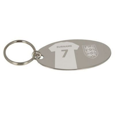 Show your support for England wherever you go with the Personalised England Shirt Keyring. Engraved with your name on the back of the shirt for a special and unique keyring gift. #England #Football  £9.95