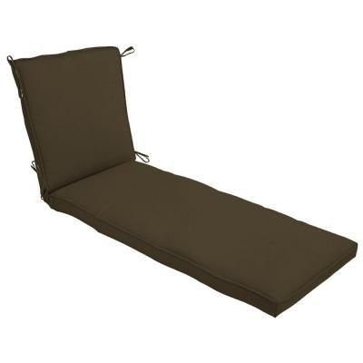 Outdoor Patio Cushion Ideas   Brown Hampton Bay Java Texture Chaise Lounge  Cushion FC01273B