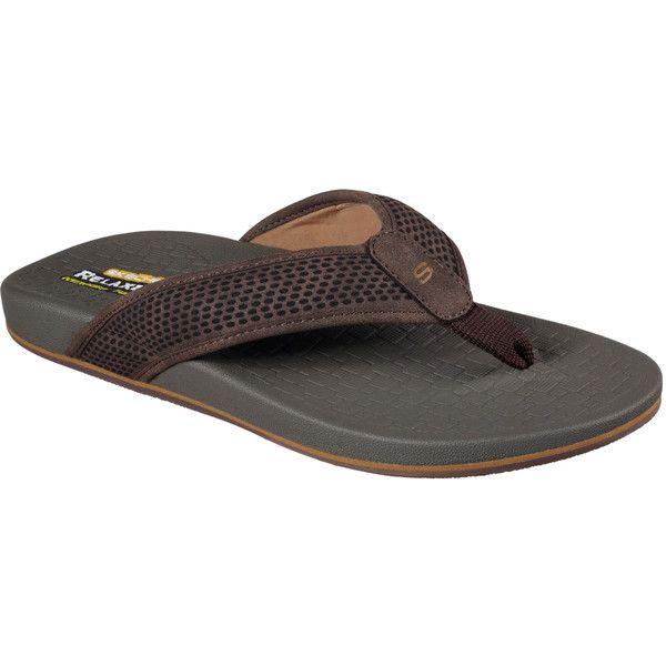 Skechers Men's Relaxed Fit: Pelem - Emiro Brown - Skechers ($44) ❤ liked on Polyvore featuring men's fashion, men's shoes, men's sandals, brown, mens sandals, mens brown shoes, mens shoes, skechers mens shoes and skechers mens sandals