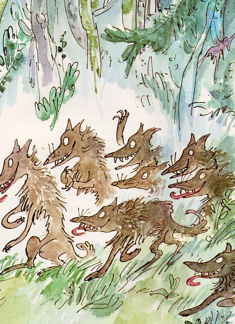 Beatrice and Vanessa by my vintage book collection (in blog form), illustration by Quentin Blake.