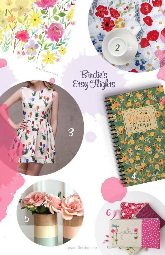 Birdie's Etsy Flight: The world laughs in flowers! #Gifts #GiftGuide #Flowers #EtsyFlights