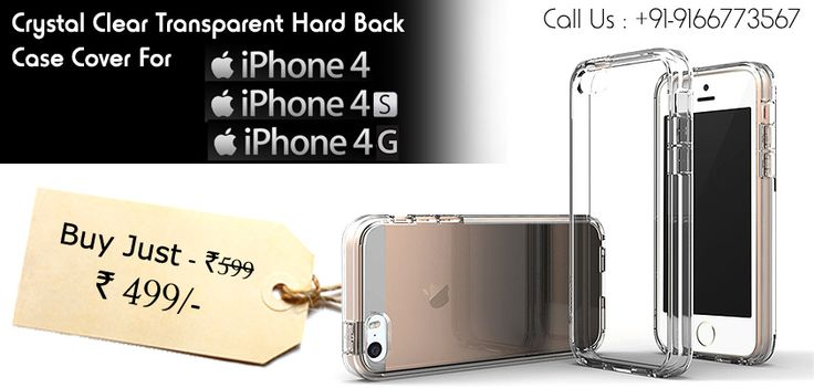 Buy Crystal Clear Transparent Hard Back Case Cover For Apple iPhone