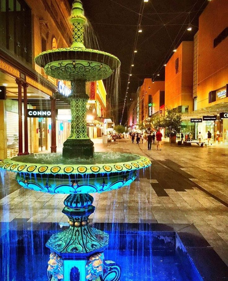 Who knew the Rundle Mall fountain could look so good?! A beautiful snap by @heyitsbillyjay by glamadelaide