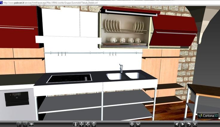 Per una nuova esperienza su internet interagisci con la nostra cucina virtuale.   http://www.padovani.it/multimedia/services.aspx?ID=4   Segui le istruzioni ed istalla il viewer 3D http://www.cortona3d.com/install.aspx  Buon divertimento!