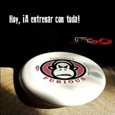Vamos a entrenar!!! #Ultimate #GuerrerosdelViento #Cali #Colombia