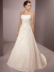 Gorgeous satén / del Organza sin tirantes de la princesa boda € 157,99 http://www.dreamflyingmx.com/vestidos-de-novia-gorgeous-saten-del-organza-sin-tirantes-de-la-princesa-boda.html