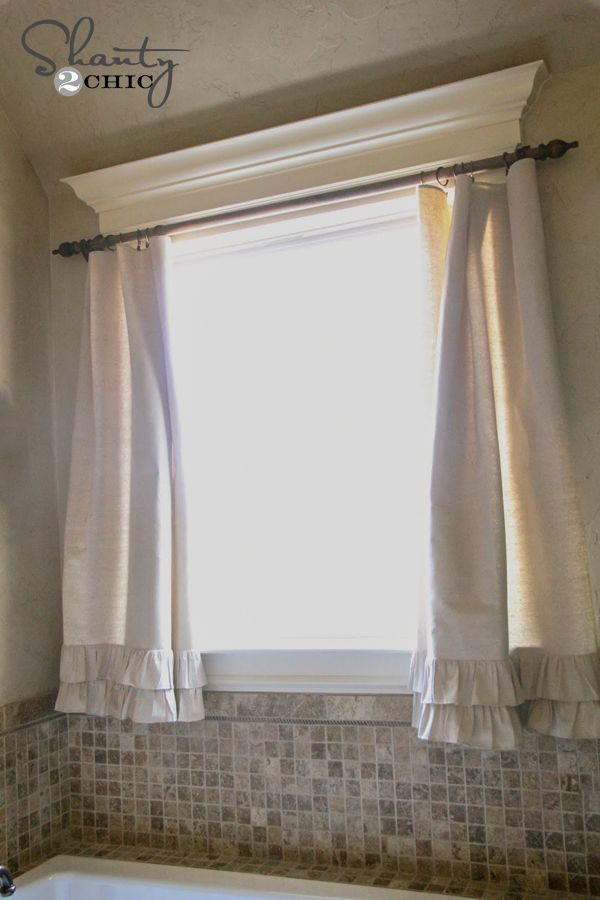 Diy Ruffle Drop Cloth Curtains