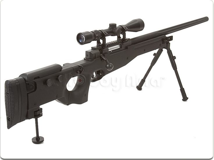 Well G96D AW .338 Sniper Rifle with Scope and Bipod (MB08D, Black)