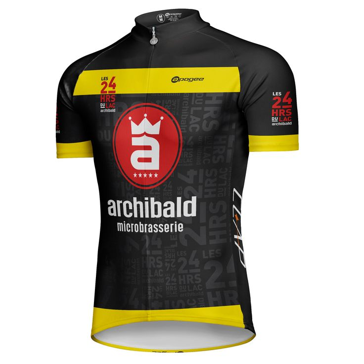 Cycling jersey - Designed and made by Apogee Sports.  Visit www.apogee-sports.com to create your custom apparel!  Client : Défi 24 heures du Lac