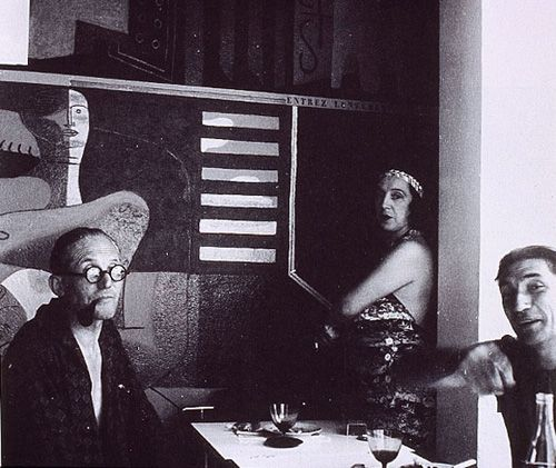 Le Corbusier, his wife and Jean Badovici, photographed by Eileen Gray at Villa E1027.