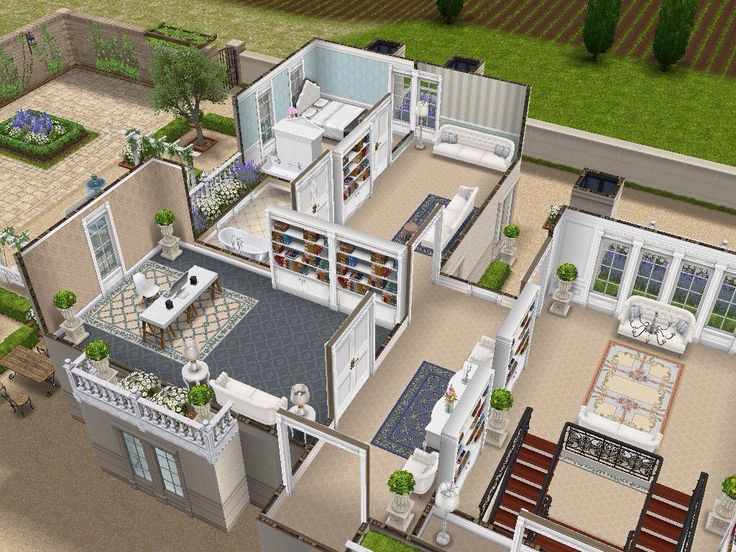House 108 French Chateau level 2 #sims #simsfreeplay #simshousedesign