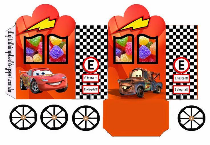 """Convites Digitais Simples: Kit Aniversário Personalizados Tema """"Carros da Disney"""" para Imprimir"""