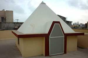 ShreeMataji Pyramid Meditation Center size : 9ft x 9ft (roof top) cost incurred :  45,000  timing : 24x7, open for public use technical support : Kishore, +91 99115 93304 contact : Chanabhai Devabhai Solanki,  mobile : +91 94280 86830 address : Ashutosh Greenpark near Parishram Society                                                         Chayya, Porbandar, Gujarat http://pyramidseverywhere.org/pyramids-directory/pyramids-in-north-india/pyramids-in-gujarat #Pyramid #Pyramids
