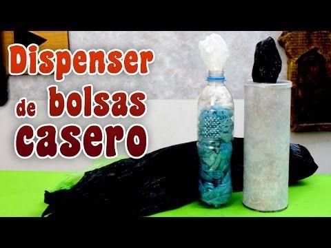 Como hacer un porta bolsas casero - Dispenser de bolsas - YouTube