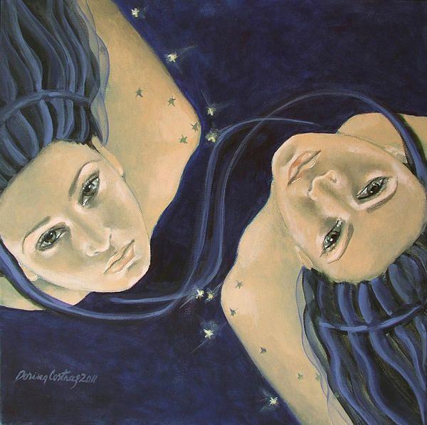 Artwork by Dorina Costras - Zodiac Series - Gemini