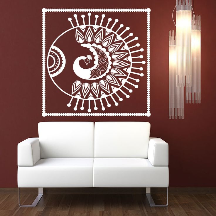 Warli Mayur Wall Decal