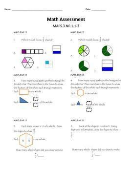 Math FSA (Florida Standards) Assessment - Fractions ...