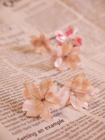 マスキングテープで作るSAKURA桜の作り方|その他|紙小物・ラッピング