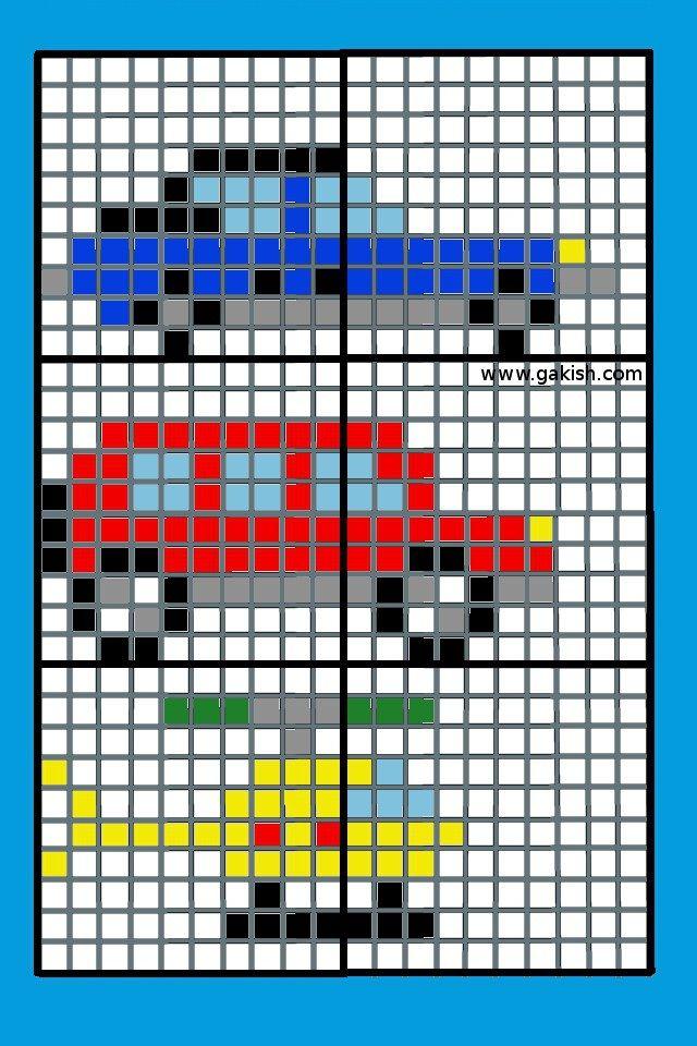 Машинки — маленькие цветные схемы для вышивки крестиком   Мои рукодельки