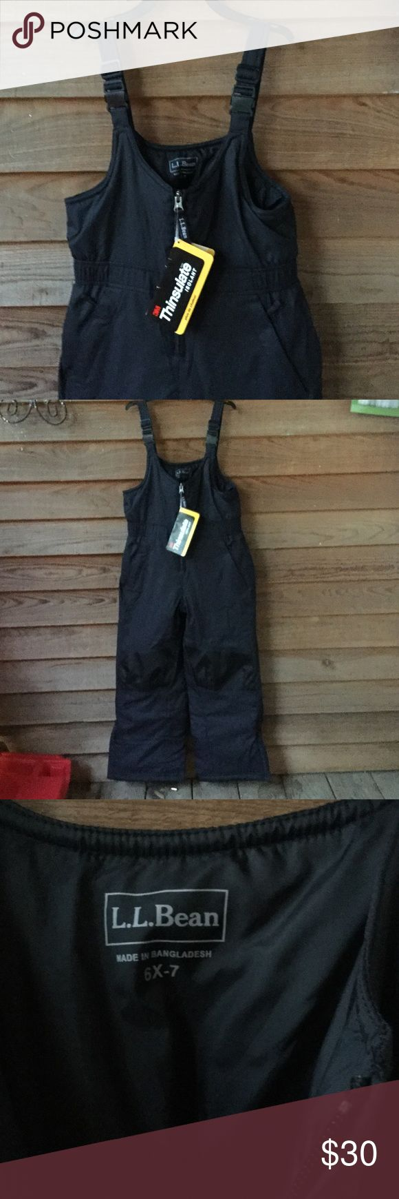 NWT Kids L.L. Bean Snow suit Brand new with tags. Never worn. Thinsulate insulation for extra warmth. Zip close pockets and zippers at bottoms for room for your boots!size 6X-7. L.L. Bean Jackets & Coats