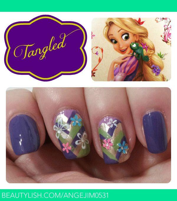 Rapunzel Inspired Nails | Angela P.'s (angejim0531) Photo | Beautylish
