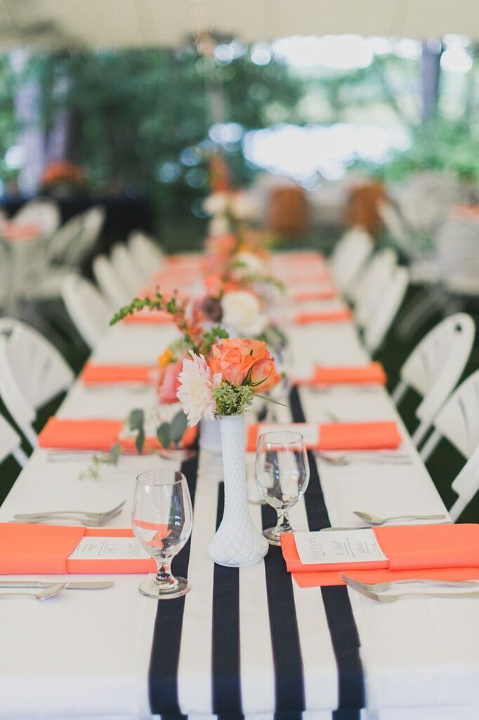 1118 best orange peach weddings images on pinterest for Wedding party decorations