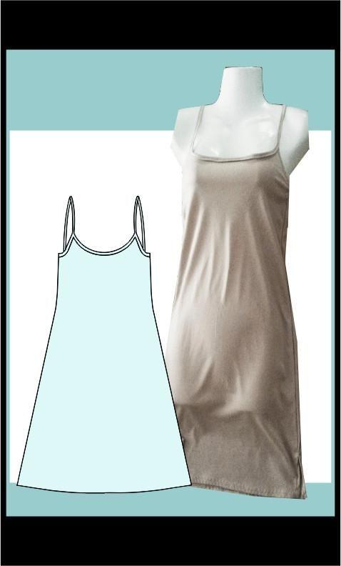 Strap dress, mini length sewing pattern, Athleisure Fashion