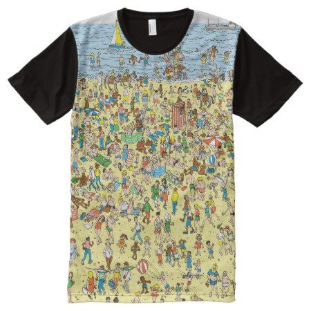 Where's Waldo on the Beach All-Over-Print Shirt - tap, personalize, buy right now!