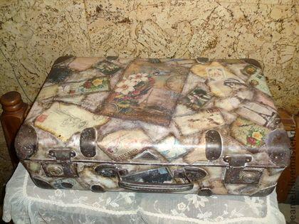 """Винтажный чемодан""""Из Парижа с Любовью"""" - коричневый,чемодан,винтажный стиль"""