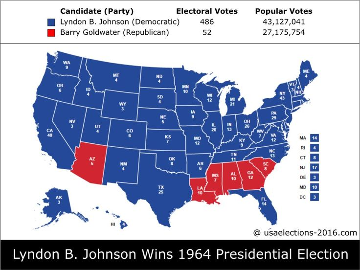 1964 Presidential Election Result Lyndon B Johnson Democratic