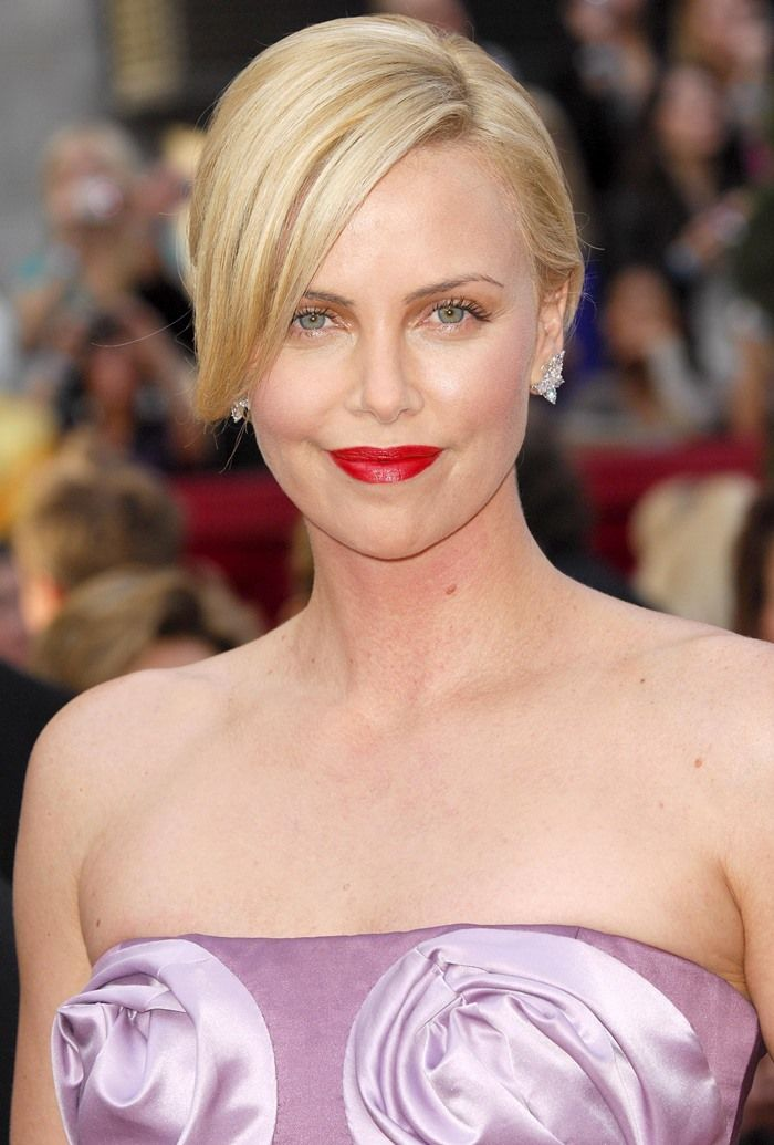 Charlize Theron in Dior at the 82nd Annual Academy Awards, Oscars, at the Kodak Theatre in Los Angeles, California on March 7, 2010