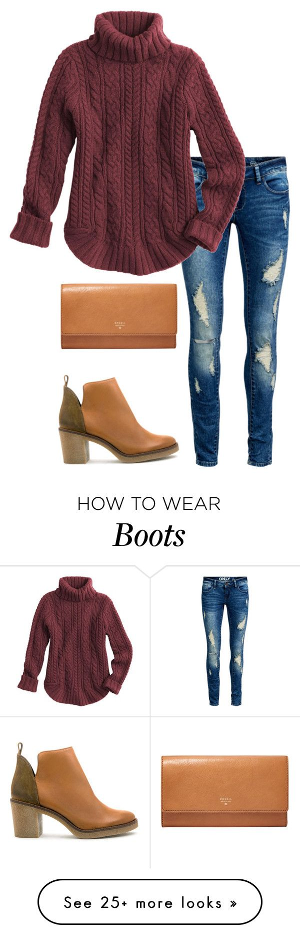 """""""Cute boots"""" by thepinkcatapillar on Polyvore featuring ONLY, FOSSIL and Miista"""