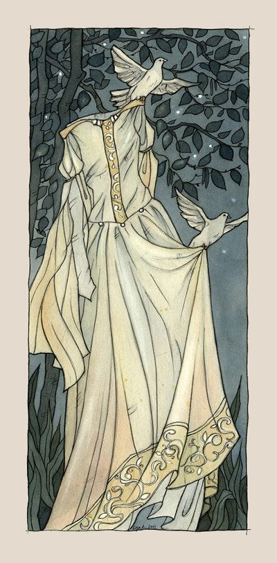 """illustration of Cinderella.   For Fairy Tale Project """"Fairy Tales for Today""""  (soon here will be link)"""