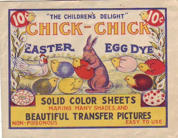 Vintage easter egg dye label Easter egg dye, Easter toys