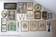 Thoughts from Alice: Vintage Eclectic Gallery Wall