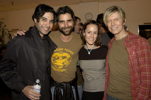 Guest John Stamos Mary Stuart Masterson and David Bowie