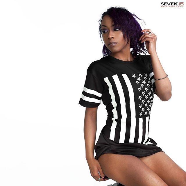 """Amerikunt"" Mesh Tee Available at www.crmcclothing.co | WE SHIP WORLDWIDE Model - Evie Cherrie Louise  Photography - Seven15 Photography #vixen #starsandstripes #starspangledbanner #alternative #pentagram #fashionstatement #invertedcross #americunt #fashionista #meshtee #blackandwhite #alternativeblackgirl #blackmodel #blackgirlsrock #beautifulblackwomen #cute #instacute #beautiful #dailyfashion #styles #style #alternativegirl #alternativeteen #alternativeboy #love"