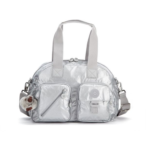 Kipling Defea Metallic Handbag ($109) ❤ liked on Polyvore featuring bags, handbags, shoulder bags, platinum metallic, kipling crossbody, crossbody purses, purse crossbody, man bag and man shoulder bag