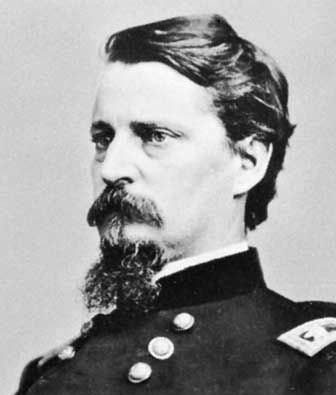 Winfield Scott Hancock (1824-1886) was a career U.S. Army officer and the Democratic nominee for President of the United States in 1880. He served with distinction in the Army for four decades, including service in the Mexican-American War and as a Union general in the American Civil War. His military service continued after the Civil War, as Hancock participated in the military Reconstruction of the South and the Army's presence at the Western frontier.