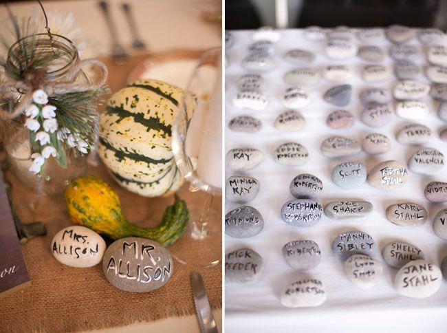 idée plan de table mariage original en galets fantastiques