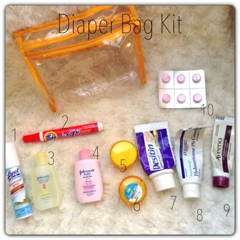 Walking with Dancers: My Goes-Everywhere-We-Go Essentials: Diaper Bag Kit