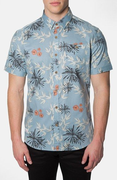 7 Diamonds 'Plastic Jungle' Short Sleeve Floral Shirt available at #Nordstrom