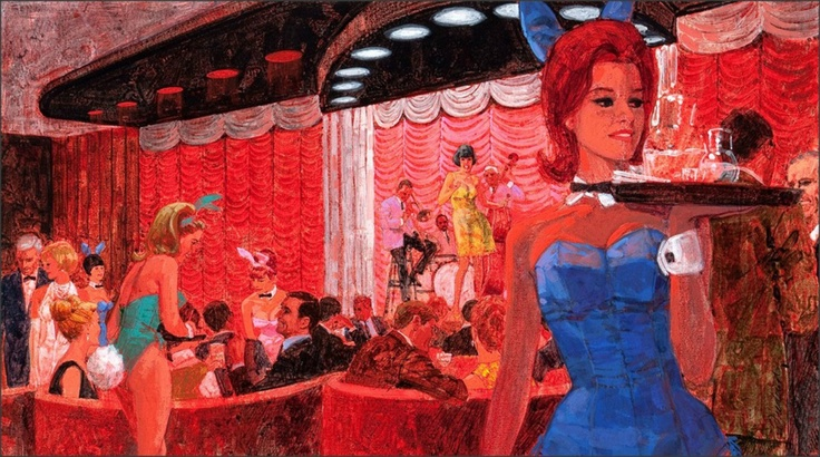 Lake Geneva Playboy Club, 1968, by Larry Fredericks: Boards Covers, Bunnies Hop, Geneva Playboy, Lakes Geneva, Vintage Illustrations, Classic Playboy, Playboy Club, Playboy Bunnies, Midcentury Art