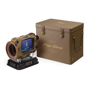 With all the hours you've spent playing Fallout, haven't you earned a working Pip-Boy Model 3000 Mk IV replica? A faithful reproduction of the in-game item, this Pip-Boy: Deluxe Bluetooth® Edition is not a phone case for your arm. It's even better.