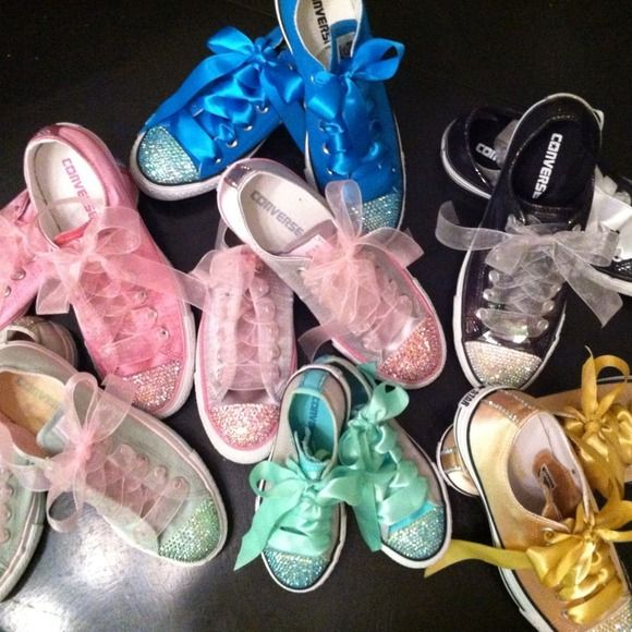 💟Pick your pair💟Prices vary Kids shoes price range$ 65-85.  Adult shoes starting at $95 pick a pair of custom made for you converse adorn with Swarovski crystals on the toe & heel. Each pair is made by me with exceptional attention paid to detail! You choose your size, color, and combination of stones and I'll do the rest! If you have any questions about my work, feel free to check with any of the poshers who have purchased from me.. 😃Better prices on pp! Converse Shoes