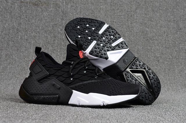 bcfd5f922d9f0 Ventilation Nike Air Huarache Drift Prm Flyknit Black White Red Men s  Running Shoes