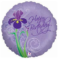 Birthday Iris Foil Balloon with National UK Delivery only £9.95 Boxed